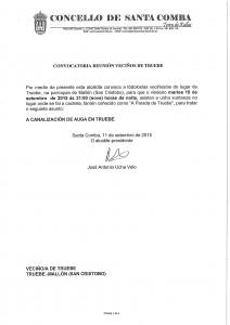 (2015 - 09 - 11) CONVOCATORIA REUNIÓN  VECIÑOS DE TRUEBE