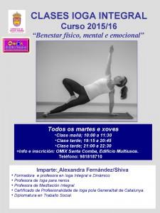 (2015 - 09 - 25) CLASES DE IOGA INTEGRAL