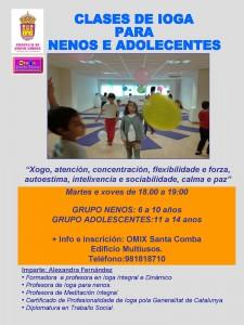 (2015 - 09 - 25) CLASES DE IOGA PARA ADOLESCENTES E NENOS