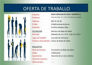 (2015 - 09 - 28) OFERTA DE TRABALLO BAILE DE SALÓN