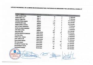 Listado provisional de alumnos seleccionados para participar no obradoiro Xallas-Barcala-Dubra III 001