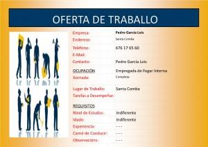 (2015 - 10 - 05) OFERTA DE TRABALLO EMPREGADA DE FOGAR INTERNA
