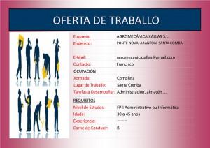 (2015 - 12 - 04) OFERTA DE TRABALLO administracion