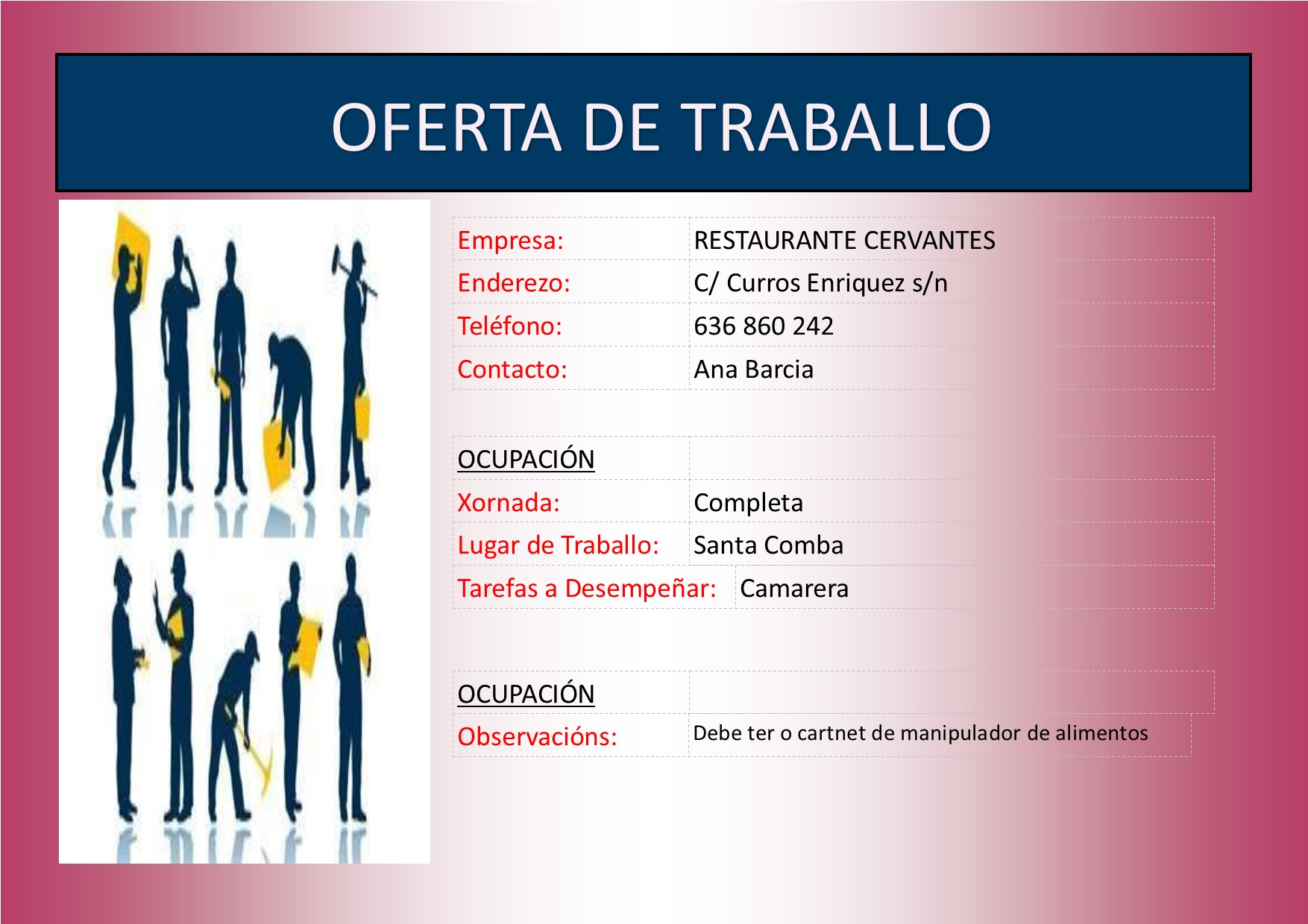 (2016 - 01 - 11) OFERTA DE TRABALLO