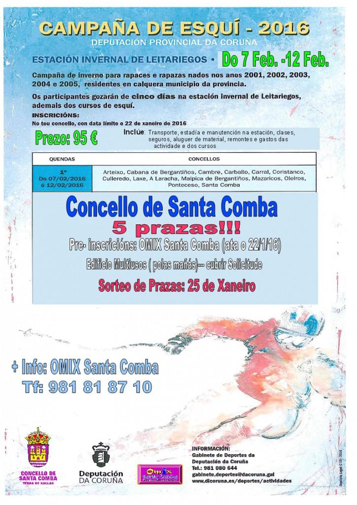 (2016 - 01 - 13) cartel neve santa comba