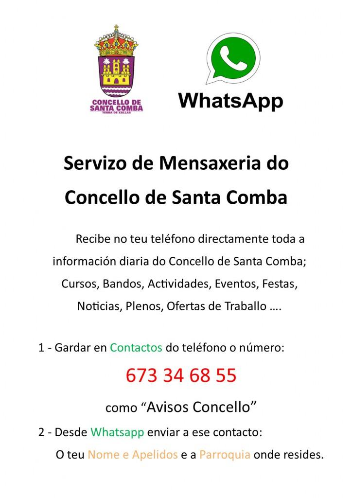 (2016 - 02 - 19) SERVIZO DE MENSAXERIA WHATSAPP