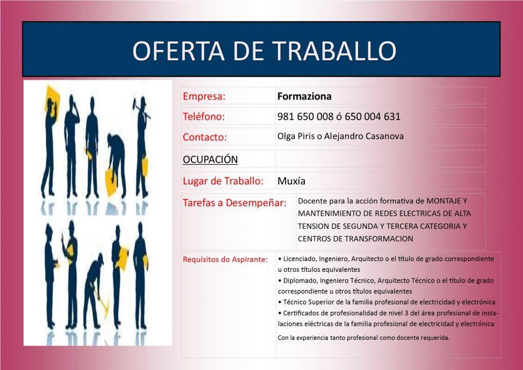 PLANTILLA - (2016 - 02 - 15) OFERTA DE TRABALLO ELECTRICAS