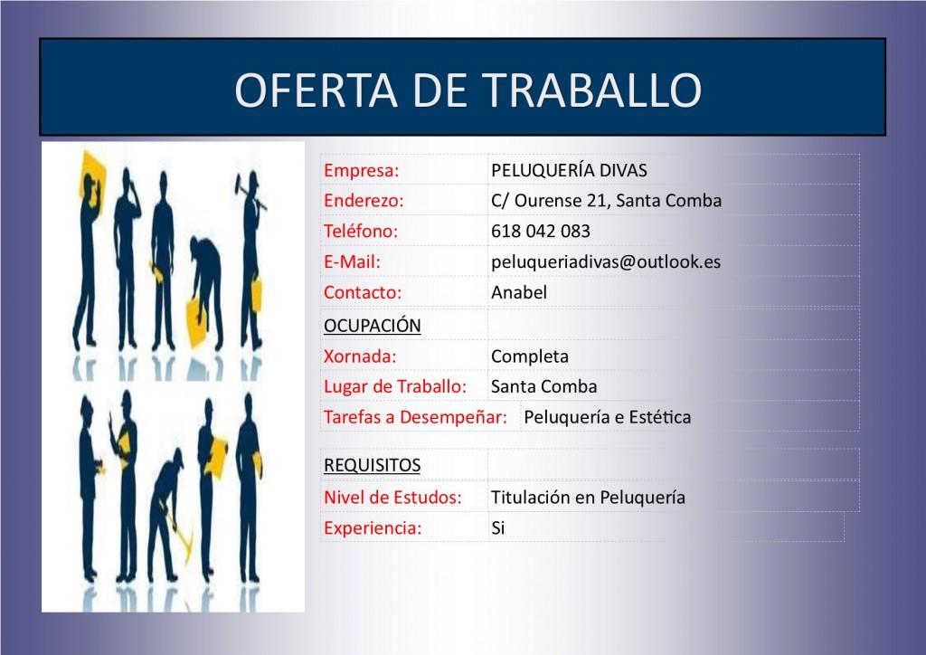 PLANTILLA - OFERTA DE TRABALLO peluqueria