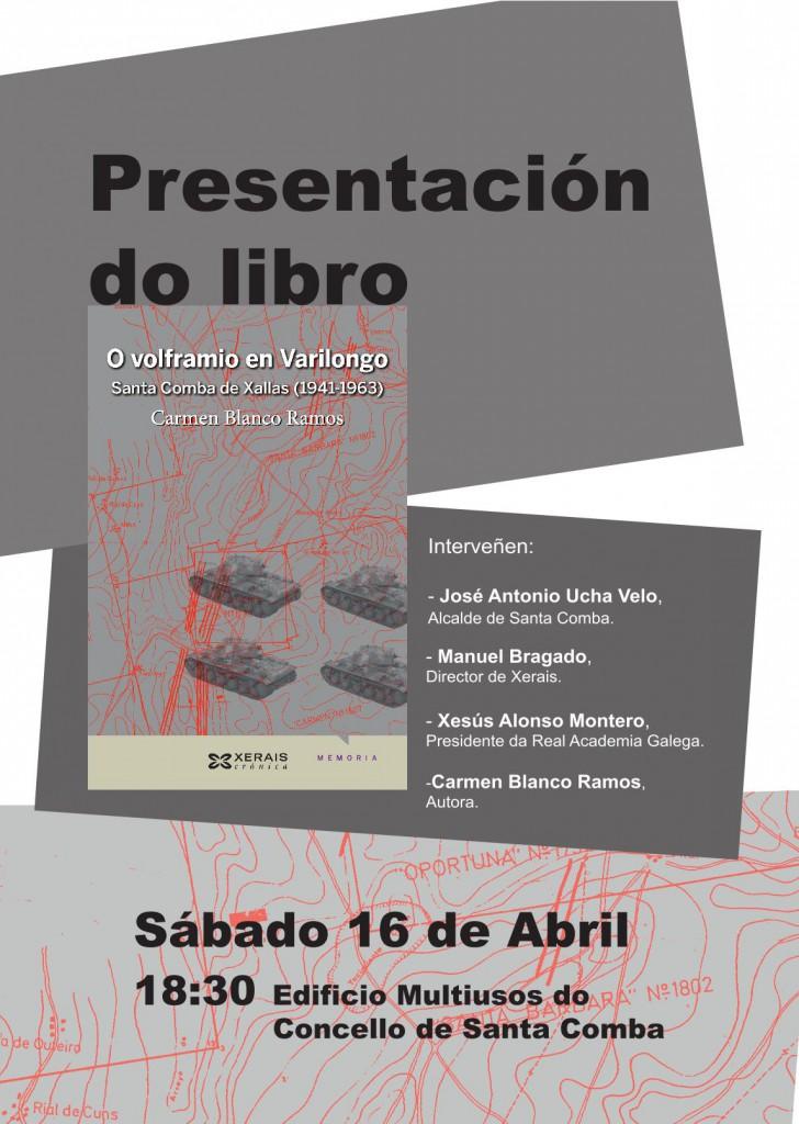 (2016 - 04 - 04) cartel presentación do libro carmen blanco