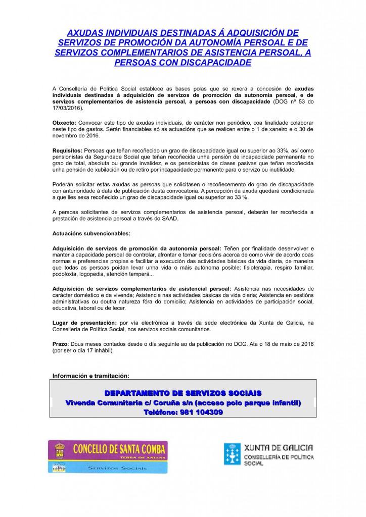 (2016 - 04 - 05) AXUDAS INDIVIDUAIS PARA PERSOAS CON DISCPACIDADE