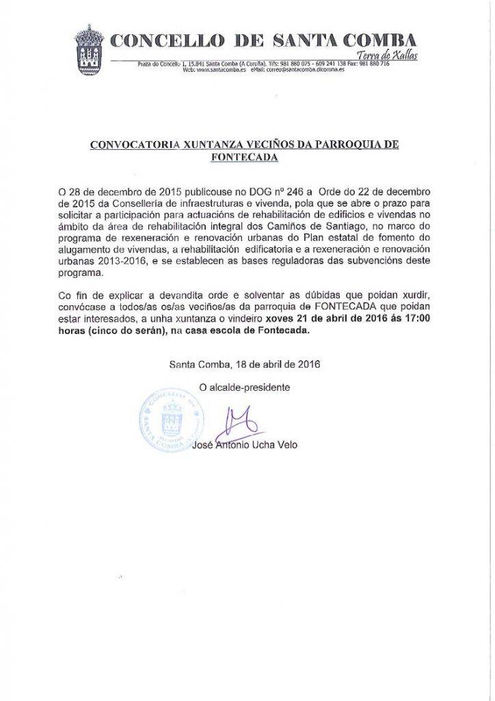 (2016 - 04 - 18) cONVOCATORIA DE VECIÑOS PARROQUIA DE FONTECADA.page1