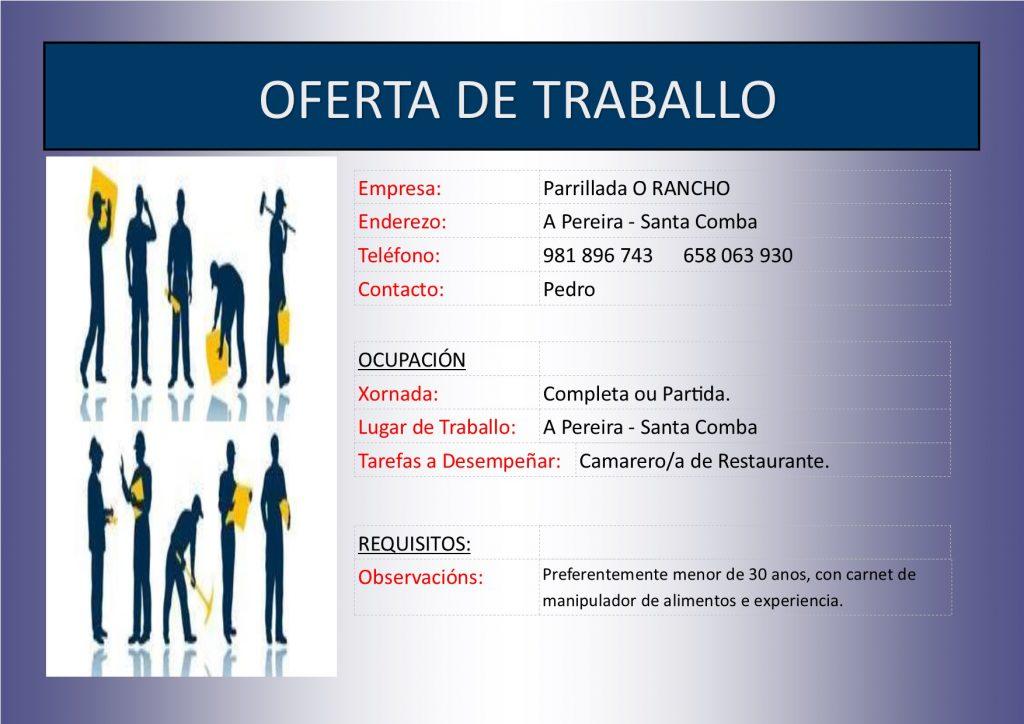 (2016 - 05 - 02) OFERTA DE TRABALLO O RANCHO
