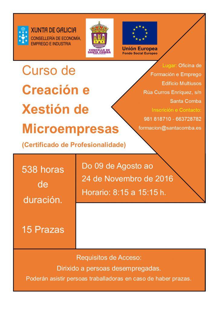 (2016 - 06 - 28) CREACION E XESTION DE MICROEMPRESAS