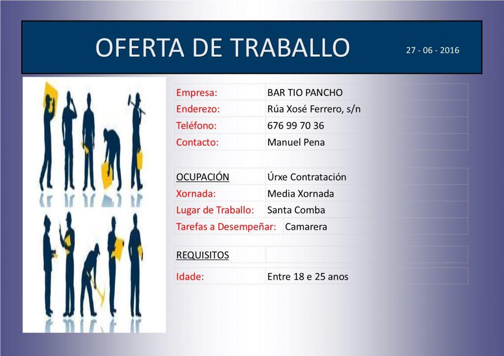 PLANTILLA - OFERTA DE TRABALLO TIO PANCHO