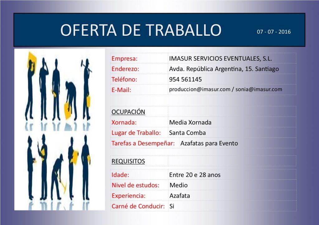 (2016 - 07 - 07) OFERTA DE TRABALLO - AZAFATAS