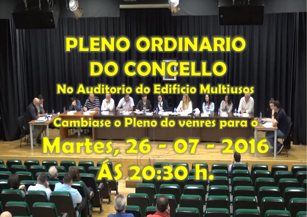 (2016 - 07 - 26) PLENO ordinario