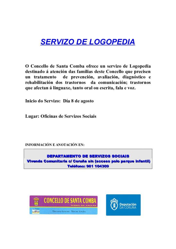 (2016 - 08 - 10) CARTEL SERVIZO DE LOGOPEDIA