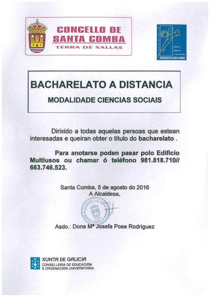 (2016 - 08 - 16) BACHARELATO A DISTANCIA