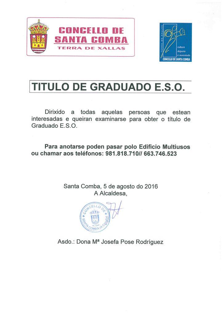 (2016 - 08 - 16) GRADUADO EN ESO
