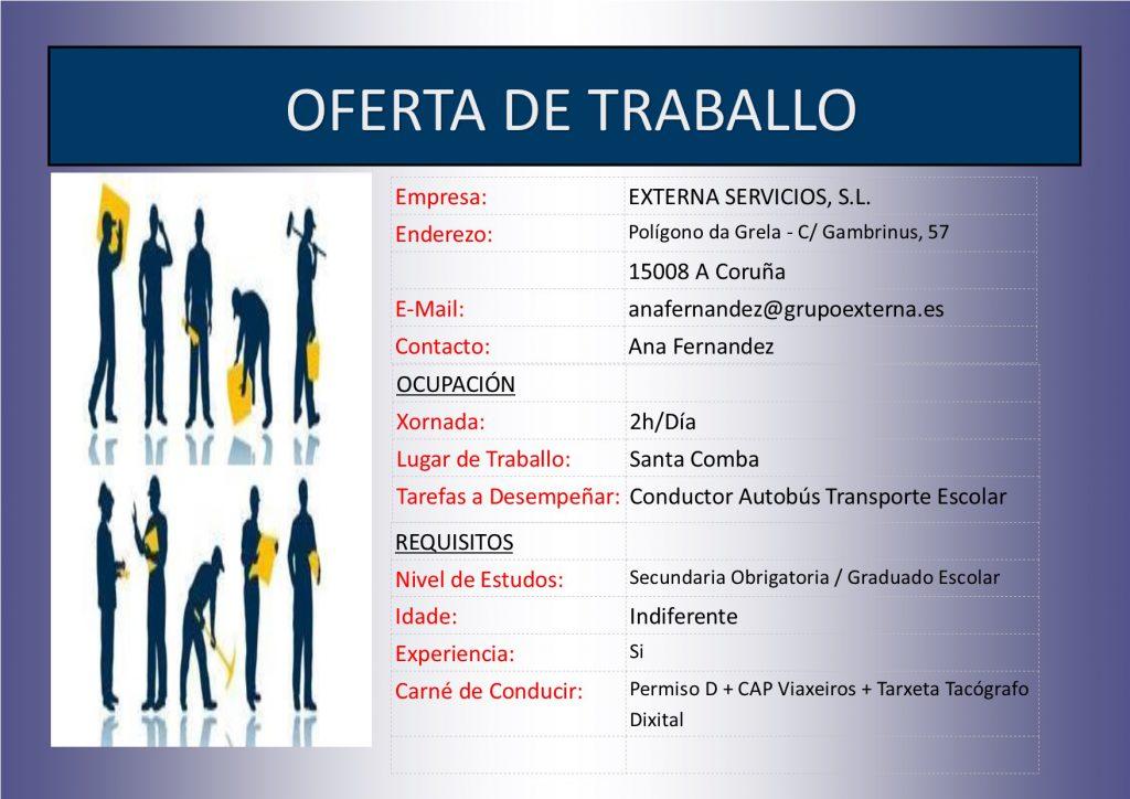 (2016 - 08 - 16) OFERTA DE TRABALLO conductor autobús