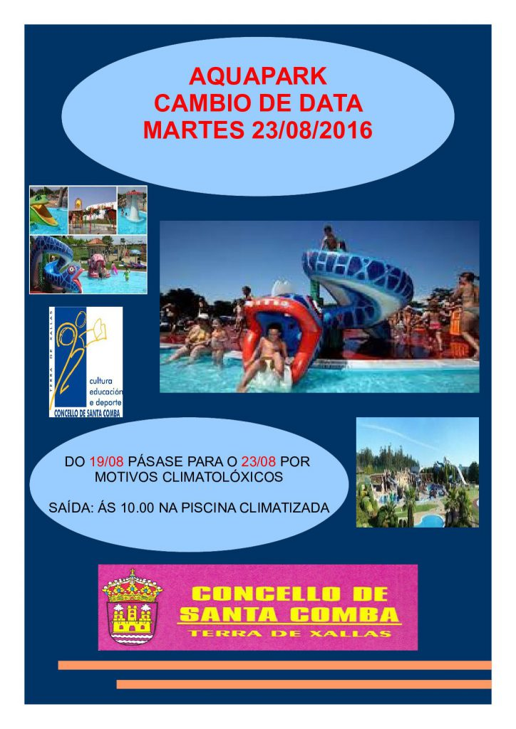 (2016 - 08 - 18) Cartel cambio de data aquapark