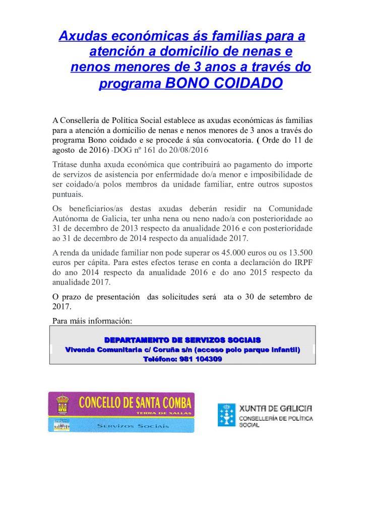 (2016 - 08 - 30) BONO COIDADO