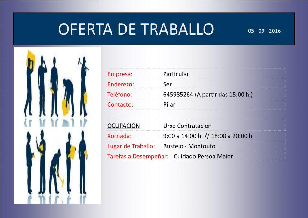 (2016 - 09 - 05) OFERTA DE TRABALLO axuda a domicilio